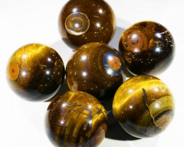 Parcel Tiger Eye Spheres PPP 1393