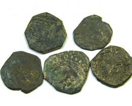Parcel Maravedis Cob 16-17thCent Philip II, III, IV AC410