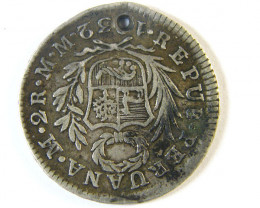 ANCIENT SPAIN L1, PERU TWO REALES AC244