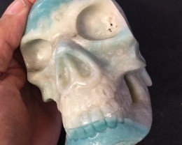 1.347 kilo Large Amazonite Gemstone Skull SU 705