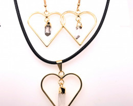 Crystal Lovers Terminated Point Set Earrings & Pendants - BR 1181