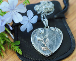 Lovers Crystal Heart Pendant SU 32