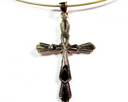 BRONZE CROSS PENDANT RT 228