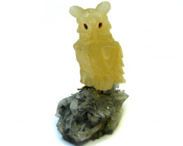 HAND CARVED LARGE OWL FROM PERU AAA 2624