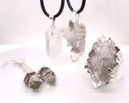 Crystal Raw Set - High Grade Druzy - BR 1269