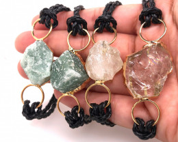 4 x Raw Rock & Funny Gemstones Bracelets - BR 1280
