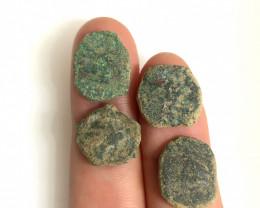 As Found ,four Nabataean Bronze Coins CP 112