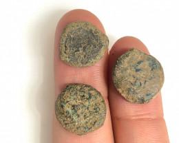 Original as found, 3 Judean  coins Found Holy land CP 183