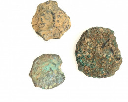 Original as found, 3 Judean  coins Found Holy land CP 179