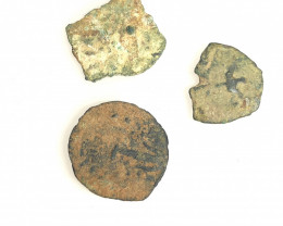 Original as found, 3 Judean  coins Found Holy land CP 182