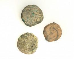 Original as found, 3 Judean  coins Found Holy land CP 178