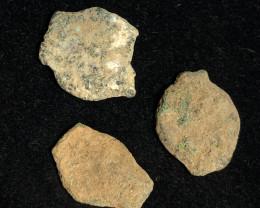 Original as found, 3 Judean  Bronze  coins Found Holy land CP 175