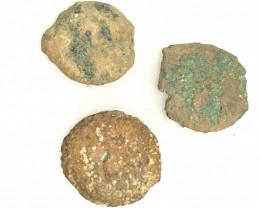 Original as found, 3 Judean  Bronze  coins Found Holy land CP 173