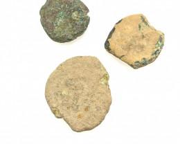 Original as found, 3 Judean  Bronze  coins Found Holy land CP 168
