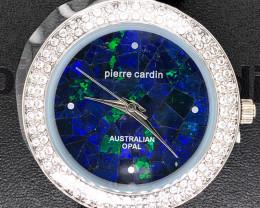 Original Ladies Silver Opal Watch Band Crystal - WO 41