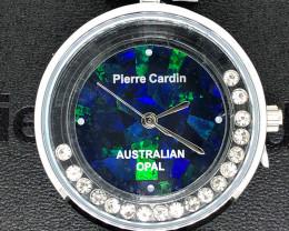 Original Ladies Silver Opal Watch Moving Stones - WO 45