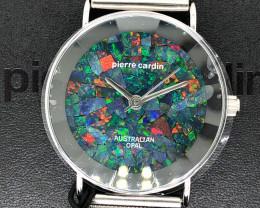 Original Unisex Silver Opal Watch Mosiac Opal - W0 48