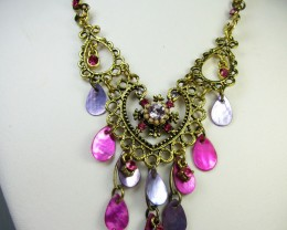 PINK LILAC   STYLE  NECKLACE  EARRINGS   QT290