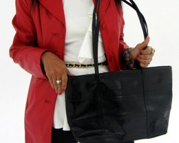 Gemstone Leather Like Black Shoulder Bag OP 39