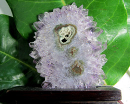 355CTS AMETHYST STALACTITE SPECIMEN ON WOOD STAND MS 1900