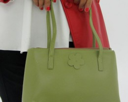 Gemstone Leather Like Green Shoulder Bag OP 40