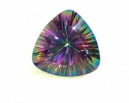 Mystic Quartz Trillion Cut  Gemstone OMR 396