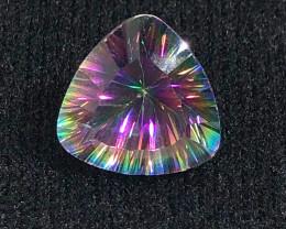 Mystic Quartz Trillion Cut  Gemstone OMR399