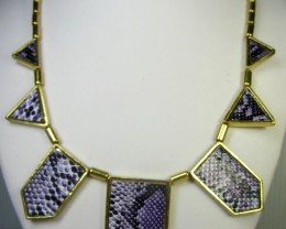 PURPLE HUES FASHION  STYLE  NECKLACE    QT 314