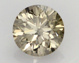 0.39 CTS FINE BROWN DIAMOND CERTIFIED VS2 BR 0012