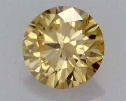 0.21 CTS FINE RUSSIAN YELLOW DIAMOND CERTIFIED VS2 DMY 0008 FREE SHIPPING