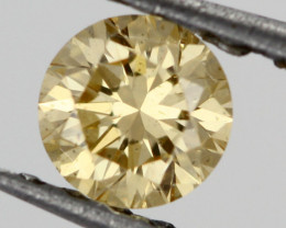 0.34 CTS FINE RUSSIAN YELLOW DIAMOND CERTIFIED I1 BR 0011