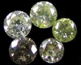 PARCEL 5 ARGYLE CHAMPAGNE DIAMONDS VS 0.19 CARATS OP 1158