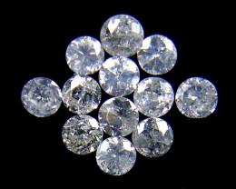 PARCEL 12 WHITE 2 POINTER DIAMONDS 0.366 CARATS OP1459