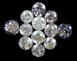 PARCEL 12 WHITE VS 1.5 POINTER DIAMONDS 0.306CT OP1513