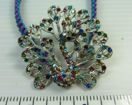 COLORFUL SILVER PEACOCK BRACELET  QT 319