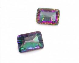 Pair Mystic Quartz Cushion  Cut  Gemstone OMR 465