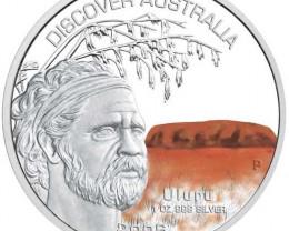 Discover Australia 2006 Uluru 1oz Silver Coin