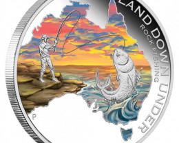 THE LAND DOWN UNDER – ROCK FISHING 2014 1OZ SILVER PROOF COIN