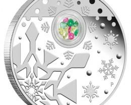 2012 CHRISTMAS COIN N GEMSTONE LOCKET ONE OUNCE