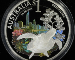 Celebrate Australia ANDA 2010 silver one ounce co2307