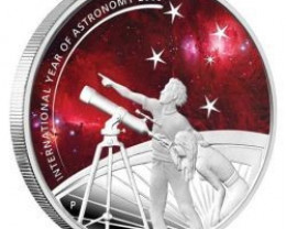 INTERNATIONAL YEAR OF ASTRONOMY 2009 PURE SILVER 99.9%