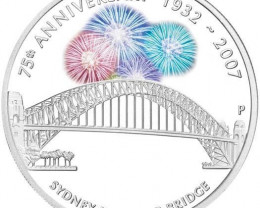 2007 Sydney Harbour Bridge 1oz  99.95 pure Silver Proof Coin