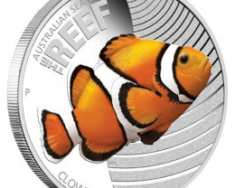 Popular Australian Sea Life 1/2oz Silver Proof Clownfish
