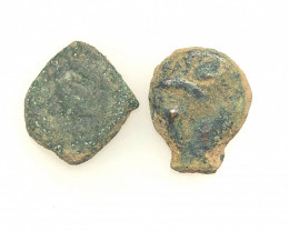 Two Genuine 2,000-Year-old Widows mite Coin CP 282