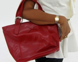 Gemstone Leather Like Red Shoulder Bag OP 43