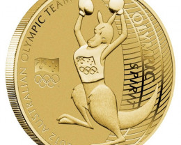 2012 AUSTRALIAN OLYMPIC TEAM $1 FIVE-COIN SET