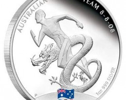 2008 Australian Olympic Team 1oz Silver Proof Coin