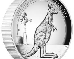 Australian Kangaroo 2012 1oz Silver Proof High Relief