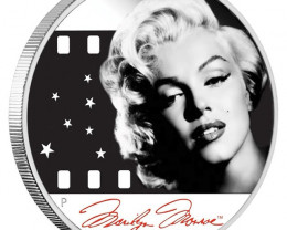 MARILYN MONROE 2012 1OZ SILVER PROOF COIN