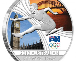 012 Australian Olympic Team 1oz Silver Proof Coin